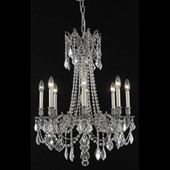 Crystal Rosalia Chandelier - Elegant Lighting 9208D24PW