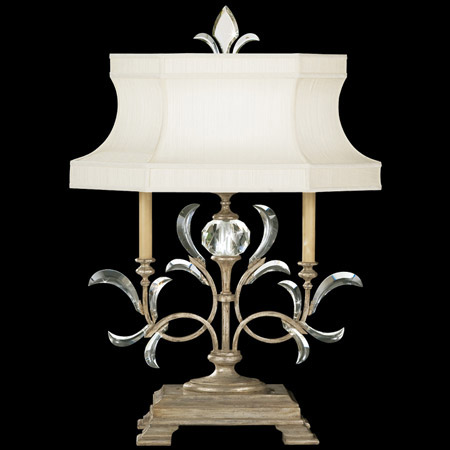Fine Art Handcrafted Lighting 737910ST Crystal Beveled Arcs Table Lamp