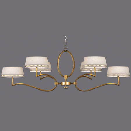 Fine Art Handcrafted Lighting 780040-2 Allegretto Oblong Gold Chandelier
