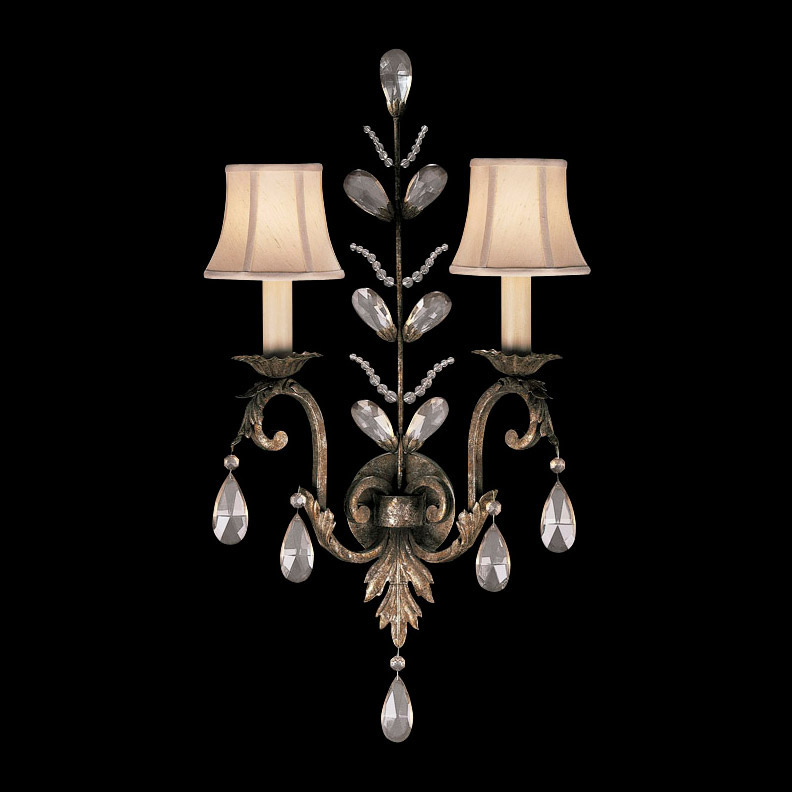 Traditional Crystal Wall Lights : Fine Art Lamps 142550 A Midsummer Night s Dream Crystal Wall Sconce