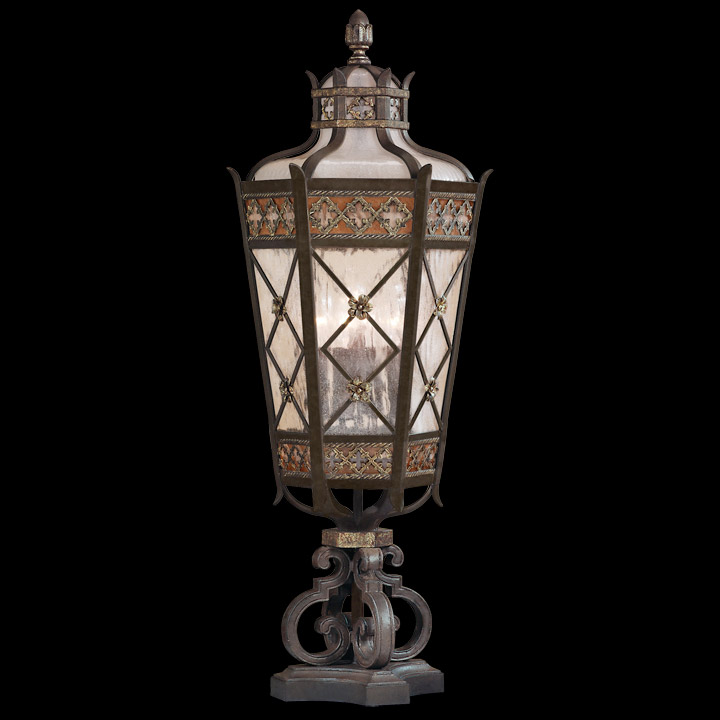 Fine Art Lamps 403983 Chateau Outdoor Pier Mount Lantern