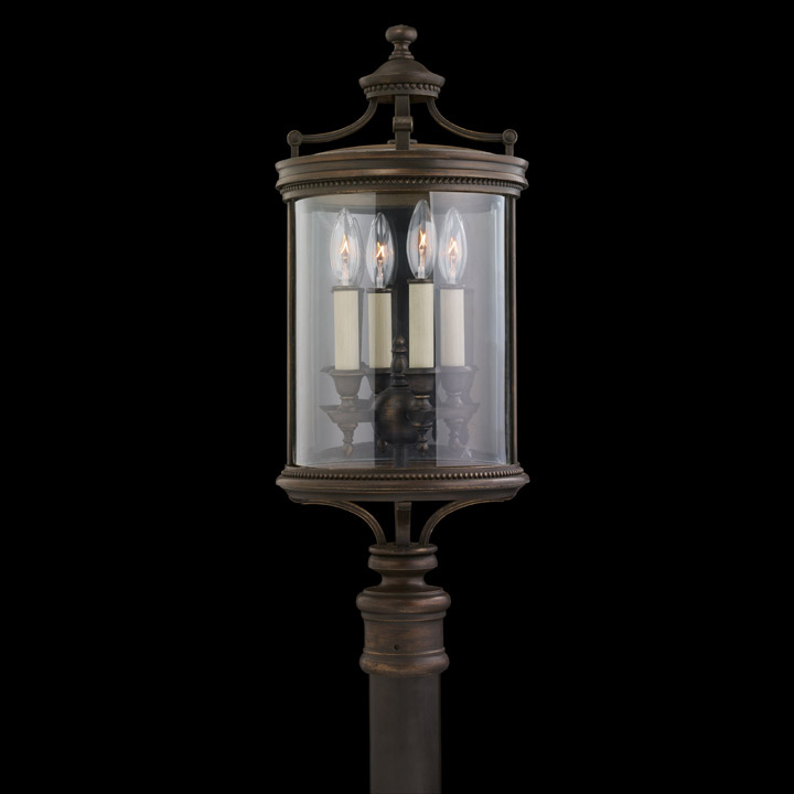 Fine Art Lamps 559483 Louvre Outdoor Pier Post Mount Lantern