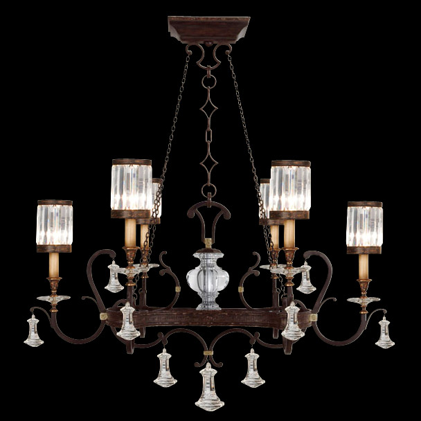 Fine Art Lamps 583840 Crystal Eaton Place Oval Chandelier