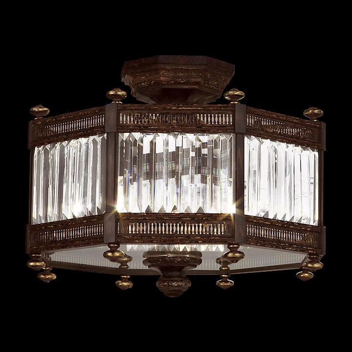 Fine Art Lamps 584640 Eaton Place Semi Flush Mount Crystal