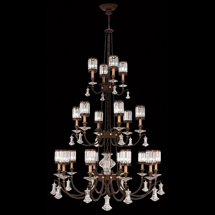 Fine art lamps 584840 eaton place twenty light crystal chandelier