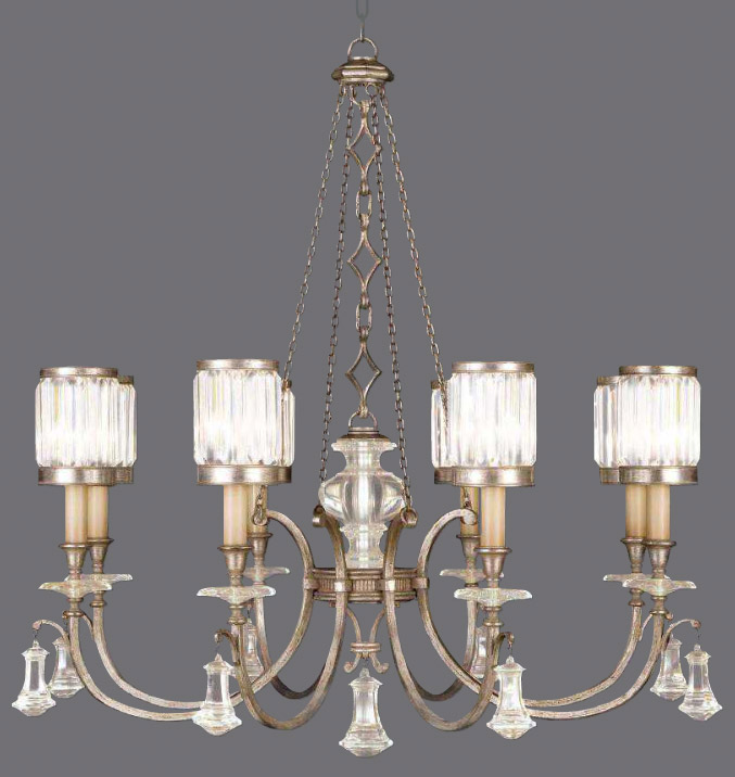 Fine art lamps 585240 2 crystal eaton place silver chandelier