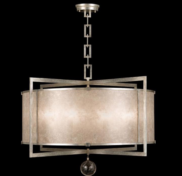 Fine Art Lamps 591540 2 Singapore Moderne Silver Pendant