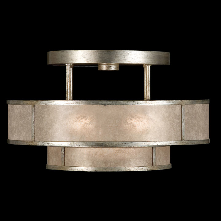 Fine Art Lamps Singapore Moderne Silver SemiFlush Mount - Ceiling mount light fixtures for kitchen