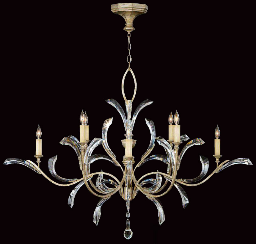 art lamps  crystal beveled arcs oval chandelier, Lighting ideas