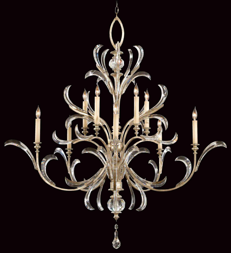 Fine art lamps 701340 crystal beveled arcs chandelier