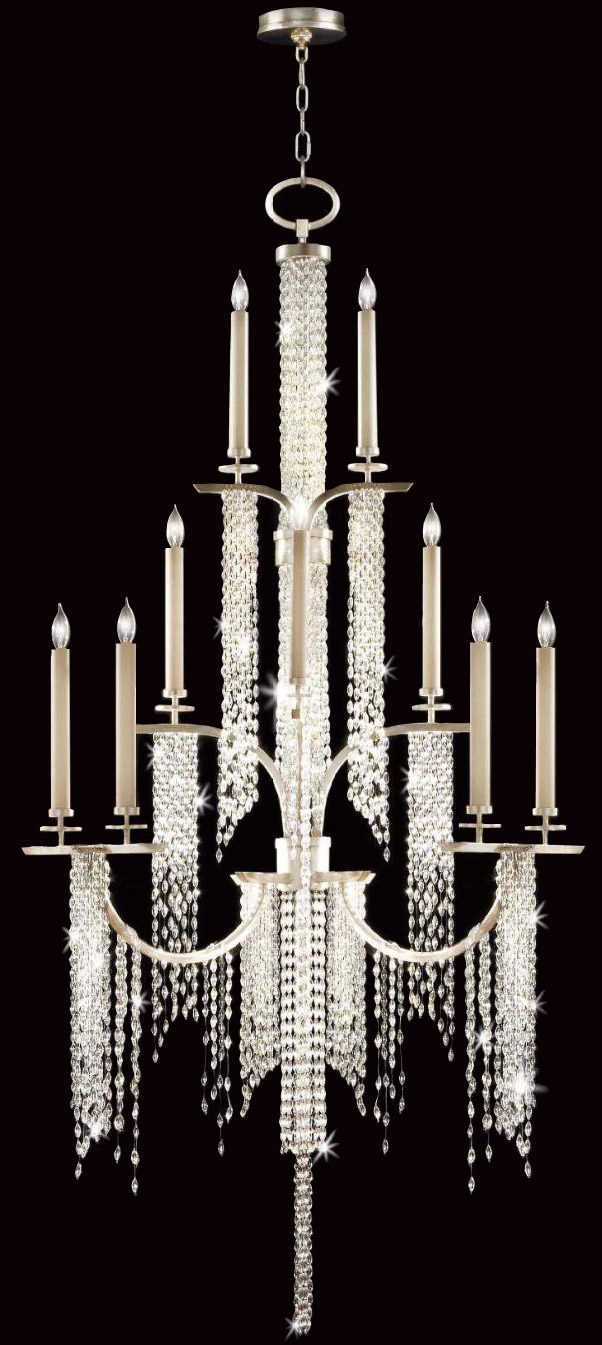 Fine Art Lamps 749640 Crystal Cascades Chandelier