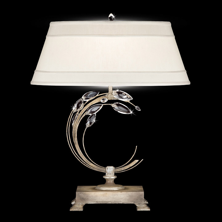 Fine art lamps 758610 crystal crystal laurel right facing table lamp aloadofball Images