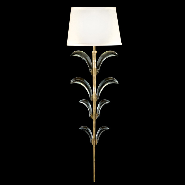 Light Gold Wall Decor : Fine art lamps crystal beveled arcs gold wall sconce