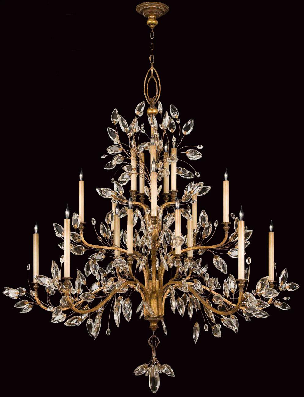 Fine art lamps 774540 crystal crystal laurel gold grand chandelier aloadofball Gallery