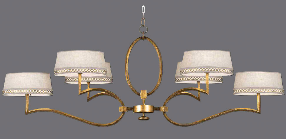 art lamps  allegretto oblong gold chandelier, Lighting ideas