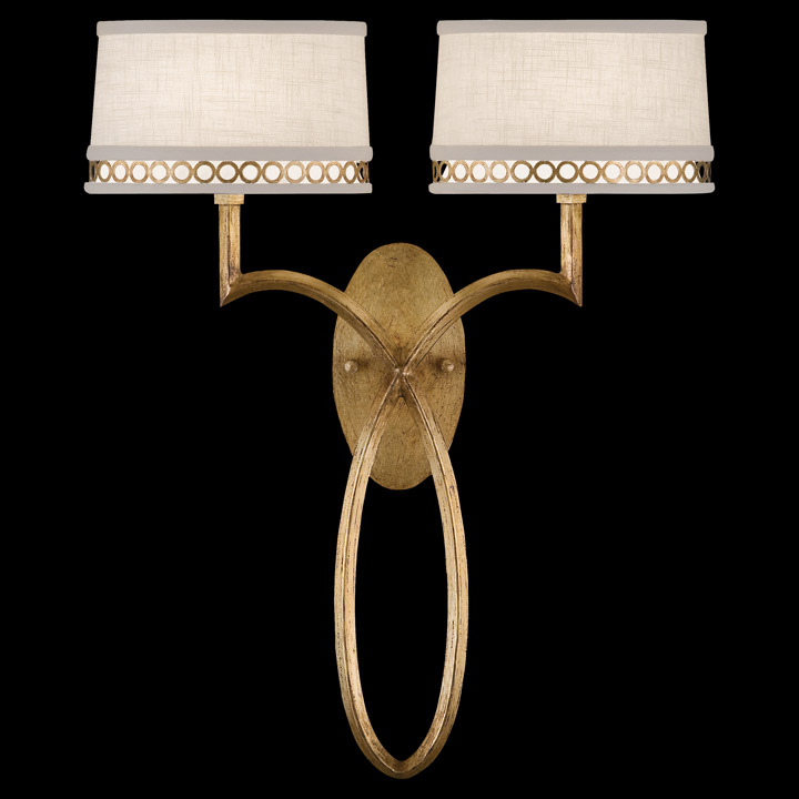 Wall Lamps Gold : Fine Art Lamps 784750-2 Allegretto Gold Wall Sconce