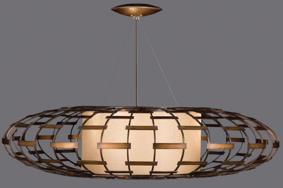 Large Contemporary Ceiling Lights : Fine art lamps entourage large pendant