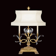 Fine Art Lamps 769110 Crystal Beveled Arcs Gold Table Lamp