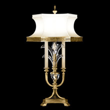Fine Art Lamps 769410 Crystal Beveled Arcs Gold Table Lamp