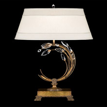 Fine Art Lamps 778010 Crystal Crystal Laurel Gold Left Facing Table Lamp