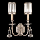 Crystal Eaton Place Silver Wall Sconce - Fine Art Lamps 583050-2