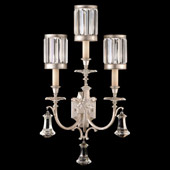 Crystal Eaton Place Silver Wall Sconce - Fine Art Lamps 583150-2