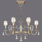 Crystal Eaton Place Silver Oval Chandelier - Fine Art Lamps 583840-2