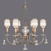 Crystal Eaton Place Silver Chandelier - Fine Art Lamps 584240-2