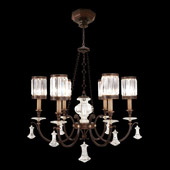 Classic/Traditional Eaton Place Six Light Crystal Chandelier - Fine Art Lamps 584240