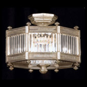 Crystal Eaton Place Silver Semi-Flush Mount Ceiling Fixture - Fine Art Lamps 584640-2
