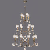 Crystal Eaton Place Silver Large Chandelier - Fine Art Lamps 584840-2