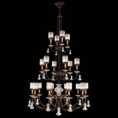 Classic/Traditional Eaton Place Twenty Light Crystal Chandelier - Fine Art Lamps 584840