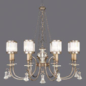 Crystal Eaton Place Silver Chandelier - Fine Art Lamps 585240-2