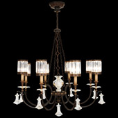 Classic/Traditional Eaton Place Eight Light Crystal Chandelier - Fine Art Lamps 585240