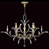 Crystal Beveled Arcs Oval Chandelier - Fine Art Lamps 701240ST