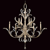Crystal Beveled Arcs Chandelier - Fine Art Lamps 701340ST
