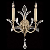 Crystal Beveled Arcs Wall Sconce - Fine Art Lamps 701850ST