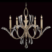 Crystal Beveled Arcs Chandelier - Fine Art Lamps 702240ST