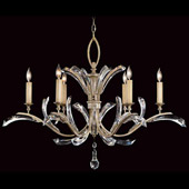 Crystal Beveled Arcs Chandelier - Fine Art Lamps 702440ST