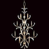 Crystal Beveled Arcs Chandelier - Fine Art Lamps 704040ST