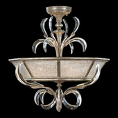 Crystal Beveled Arcs Ceiling Light Fixture - Fine Art Lamps 704340ST