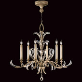 Crystal Beveled Arcs Chandelier - Fine Art Lamps 739140ST