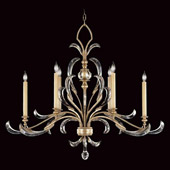 Crystal Beveled Arcs Oval Chandelier - Fine Art Lamps 739240ST
