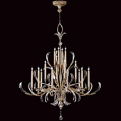 Crystal Beveled Arcs Large Chandelier - Fine Art Lamps 739640ST