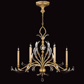 Crystal Beveled Arcs Gold Oval Chandelier - Fine Art Lamps 760540ST