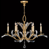 Crystal Beveled Arcs Gold Chandelier - Fine Art Lamps 761240ST