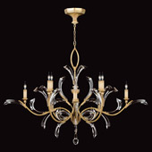 Crystal Beveled Arcs Gold Oval Chandelier - Fine Art Lamps 761640ST