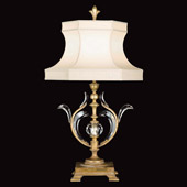 Crystal Beveled Arcs Gold Table Lamp - Fine Art Lamps 762010ST