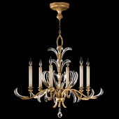 Crystal Beveled Arcs Gold Chandelier - Fine Art Lamps 762640ST