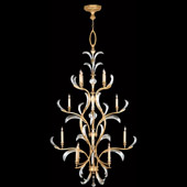 Crystal Beveled Arcs Gold Extra Tall Chandelier - Fine Art Lamps 762940ST